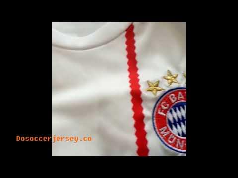 dosoccerjersey.net reviews Bayern Munich soccer jerseys 2017-18 White Third soccergears kit