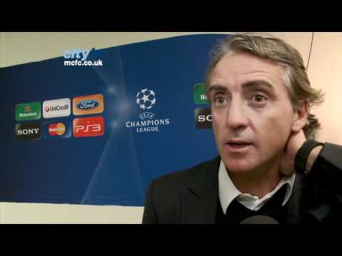 Bayern Munich v Manchester City: Roberto Mancini's post-match reaction in the Champions League