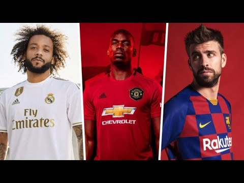 Football Kits 2019-20 | Barcelona, Manchester United, Real Madrid…