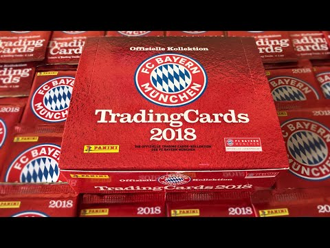 FC BAYERN MÜNCHEN TRADING CARDS 2018 DISPLAY Unboxing | Panini