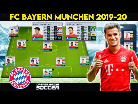 Create Fc Bayern Munchen 2019-20 Team, Kits & Logo in Dream League Soccer | New Signing Coutinho