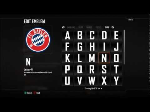 BO2 | Football Club Emblem Tutorial | Bayern Munchen Badge Ep.1