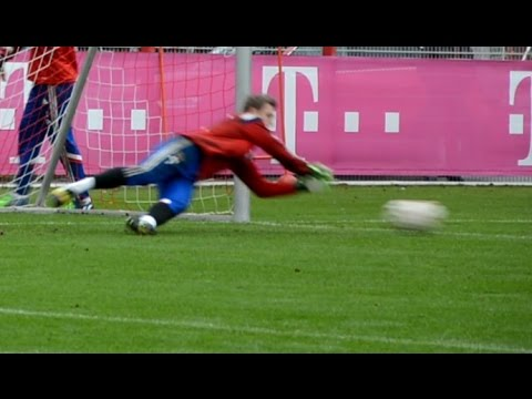Manuel Neuer – Low diving Saves – Goalkeeper training FC Bayern Munich – part 5