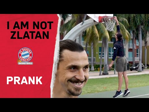 I Am Not Zlatan 🔴⚪ Ibrahimovic Prank beim FC Bayern Basketball