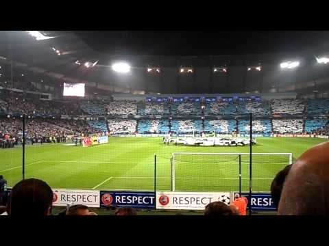 MCFC vs Bayern Munich – UEFA Champions League 2013. Players Enter