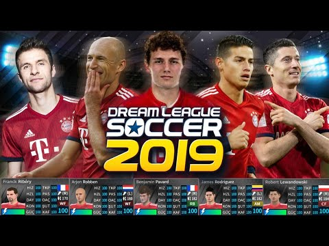 Bayern münih yamasi! Güncel kadro 2019 #Dream League Soccer 2019 PAVARD, ROBBEN, RIBERY..