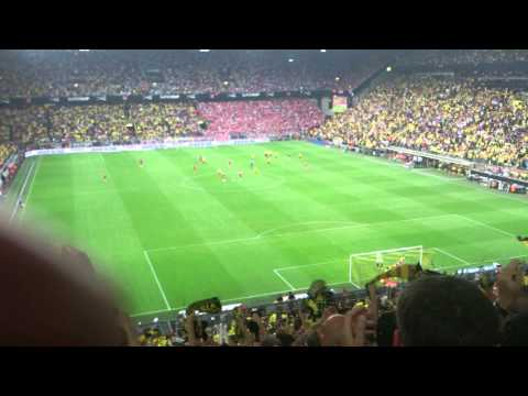 Atmosphere after goal Mkhitarian! | Borussia Dortmund 2-0 FC Bayern Munich | Supercup 2014