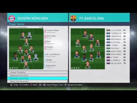 PES 2018 – Bayern Munich – Best Formation & Tactics
