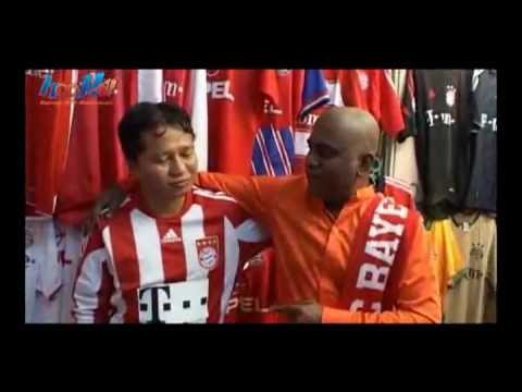 Malaysian Bayern Munich fan jersey collection on Astro's Bola @ Mamak