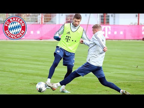 Müller, Davies & Co. score nice goals at FC Bayern training
