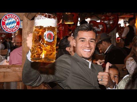 Coutinho, Pavard & Hernandez: 1st time at Oktoberfest with FC Bayern!
