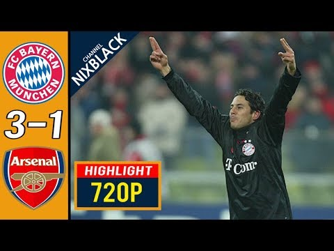 Bayern Munich 3-1 Arsenal 2005 CL Round of 16 All goals & Highlights FHD/1080P