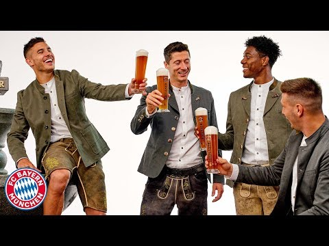 Hernández, Coutinho & Co. in Lederhosen: FC Bayern at the Paulaner Photo Shoot!