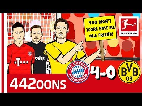 FC Bayern München vs. Borussia Dortmund | 4-0 | Der Klassiker – Highlights Powered by 442oons