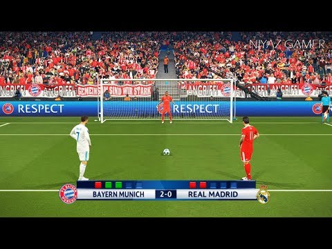 BAYERN MUNICH vs REAL MADRID | UEFA Champions League – UCL | Penalty Shootout | PES 2018