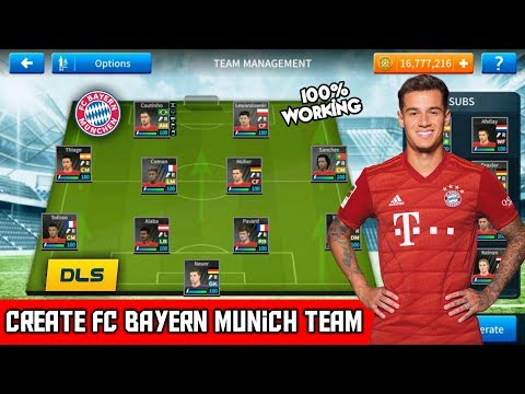 How To Create Latest FC Bayern Munich Team In Dream League Soccer   All Players 100