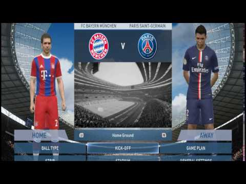 PES 2015 FC Bayern Munich vs Paris saint Germain Who is the best? 1/2 Episode