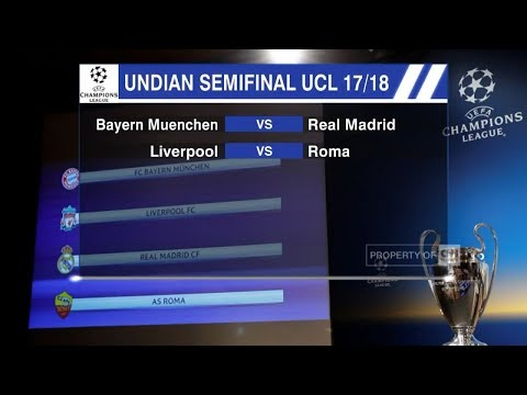 Hasil Lengkap Undian Semifinal Liga Champions – Bayern Munchen Vs Real Madrid, Liverpool Vs AS Roma