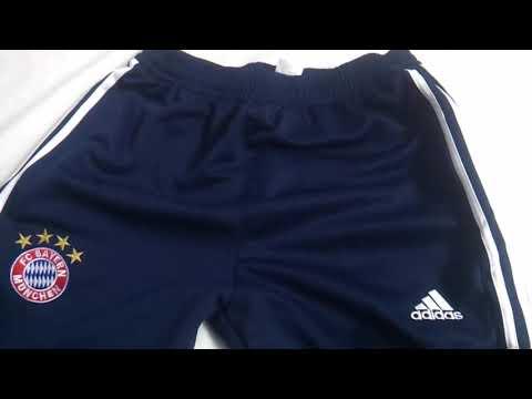 Gogoalshop.co 18 19 Bayern Munich Navy & White Stripe Training Trouser