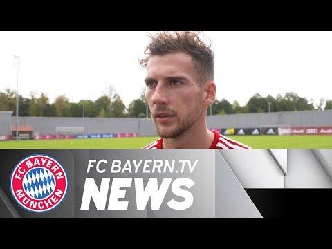 Leon Goretzka prior to start of FC Bayern's busy schedule
