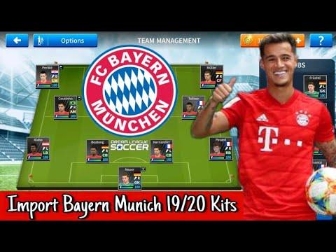 How To Create Latest Bayern Munich Team In Dream League Soccer 2019 | Import Bayern Munich 19/20 Kit