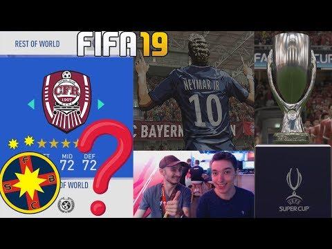 SUNT ECHIPE ROMANESTI IN FIFA 19? SUPERCUPA EUROPEI – PSG vs BAYERN !!! FIFA 19 ROMANIA