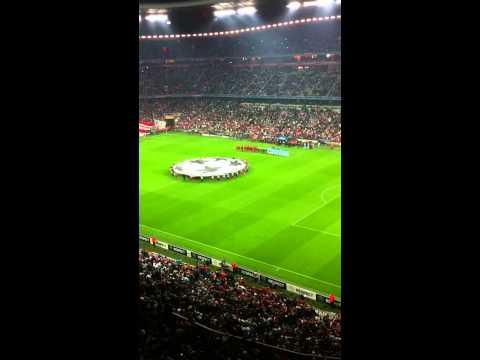 FC Bayern vs Manchester City 27.9.11 Einlaufen CL-Hymne
