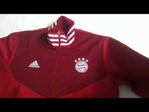 Gogoalshop.co 18-19 Bayern Munchen Red High Neck Collar Track Jacket Unboxing Review