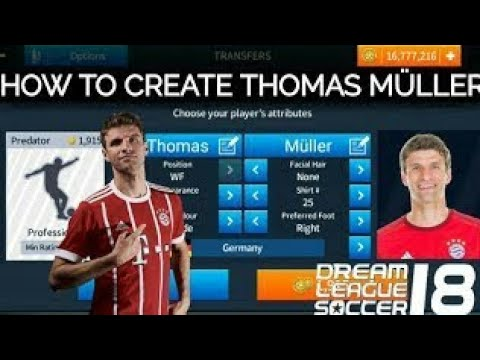 How to create Thomas Muller in Dream League Soccer & Bayern Munich Hack Mod Apk All Players 100