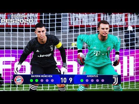 PES 2020 | goalkeeper M.NOUER vs goalkeeper C.RONALDO | Penalty Shootout | Bayern vs Juventus