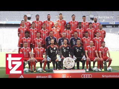 FC Bayern: Antritt zum Fototermin