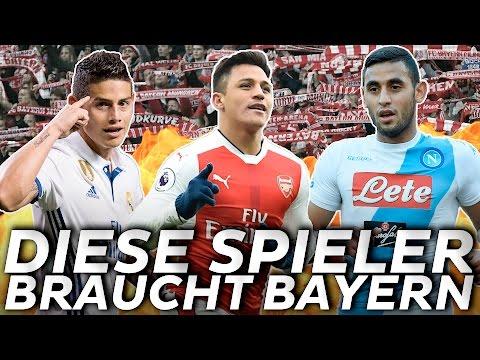 Fünf Spieler, die der FC Bayern für das Triple 2017/18 braucht 🏆
