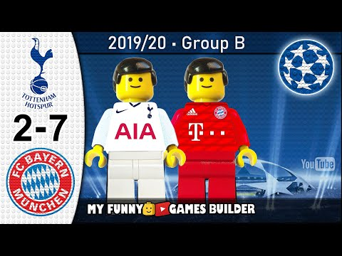 Tottenham vs Bayern 2-7 • Champions League 2019/20 (01/10/2019) All Goals Highlights Lego Football