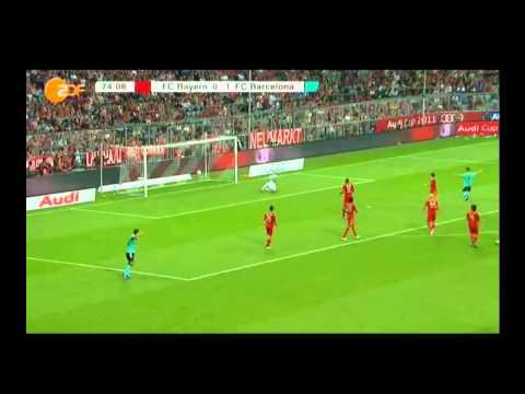 FC BAYERN MÜNCHEN VS FC BARCELONA ALL GOALS [27.07.2011] [AUDI CUP] GERMAN