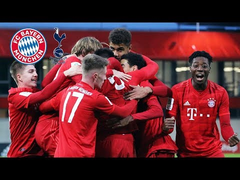 U19 finishes Youth League group undefeated | FC Bayern vs. Tottenham 3-0 | Highlights