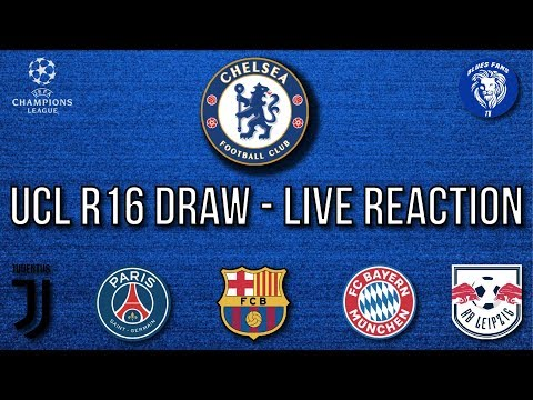 CHAMPIONS LEAGUE R16 DRAW – LIVE REACTION | CHELSEA vs BAYERN MUNICH!