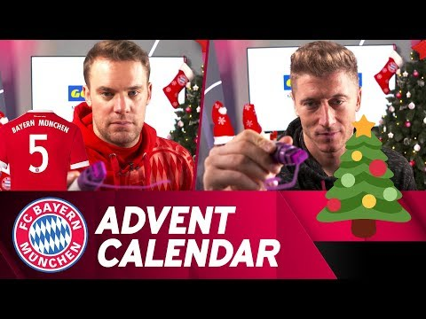 Drawing w/ Lewandowski & Neuer | FC Bayern Xmas Advent Calendar #5