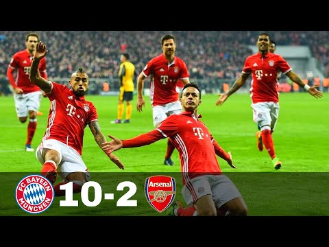 Bayern Munich vs Arsenal 10-2 – Goals & Highlights w\ English Commentary 1080p HD