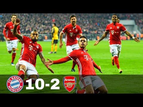 Bayern Munich vs Arsenal 10-2 – Goals & Highlights w\ English Commentary 1080p HD