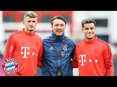 First FC Bayern Training for Coutinho & Cuisance!