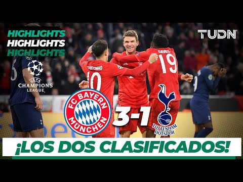 Highlights | Bayern Munich 3 – 1 Tottenham | Champions League – J 6 – Grupo B | TUDN
