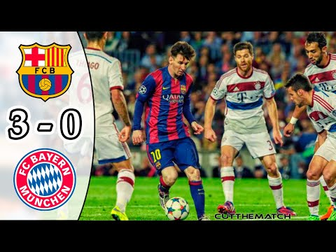 Barcelona vs Bayern Munich 3-0 | All Goals & Highlights | UCL Semi-final 2014/15