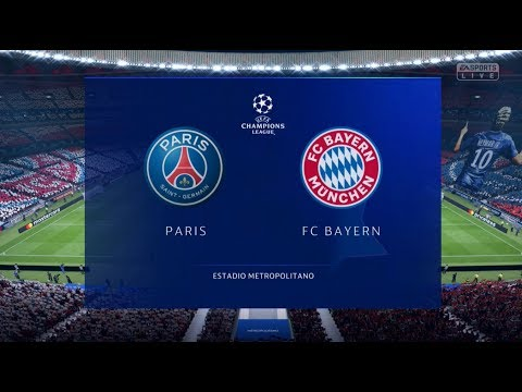PSG VS BAYERN MUNICH XBOX ONE S FULL MATCH GAMEPLAY FIFA 19