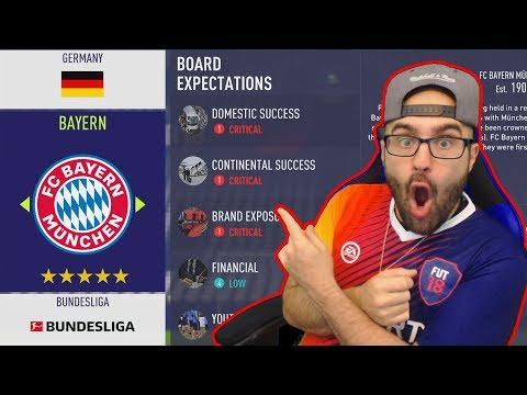 OMG SIGNING INSANE SUPERSTARS *NEW FIFA 18 Career Mode BAYERN MUNICH* #01