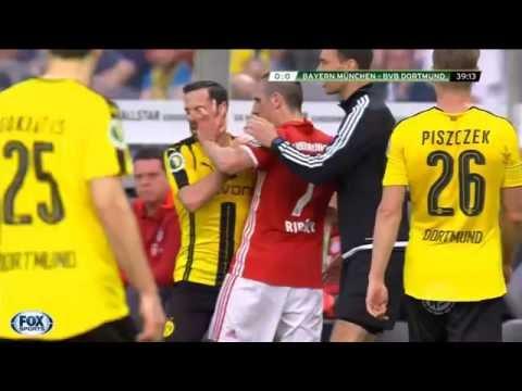 A true fighter Franck Ribery (Dortmund vs Bayern Munich DFB Pokal 2016)