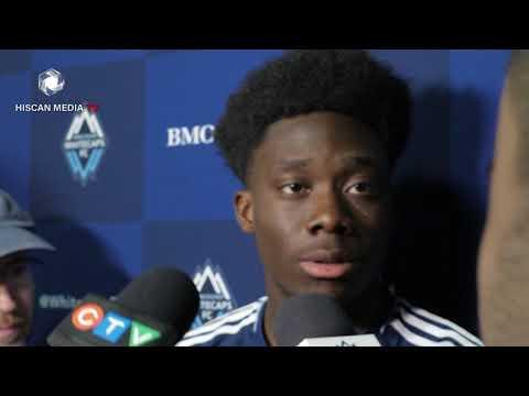 Alphonso Davies talks about scoring his first MLS gol,