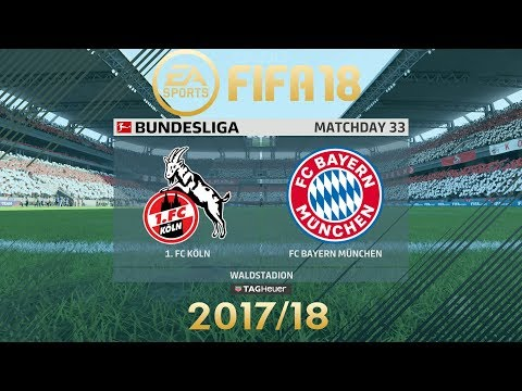 FIFA 18 FC Köln vs Bayern Munich | Bundesliga 2017/18 | PS4 Full Match