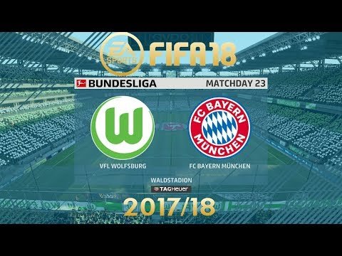 FIFA 18 Wolfsburg vs FC Bayern München | Bundesliga 2017/18 | PS4 Full Match