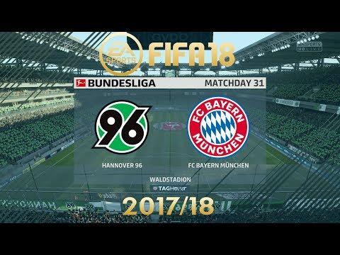 FIFA 18 Hannover 96 vs FC Bayern München | Bundesliga 2017/18 | PS4 Full Match