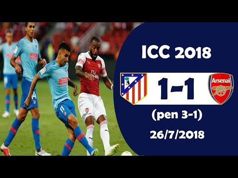 Atletico Madrid vs Arsenal 1-1 (pens 3-1) Highlights | International Champions Cup 26/7/2018